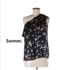 Tops - Sunner One Shoulder Silk Blouse NEW!